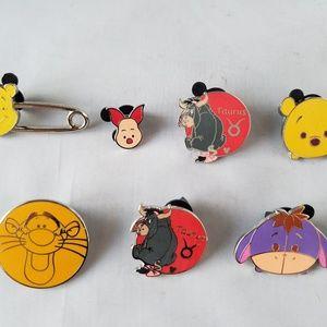 Disney Trading Pins Tigger Winnie the Pooh Lot 7